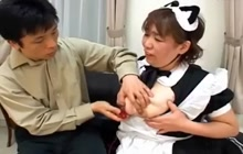 Japanese maids toyed and fucked