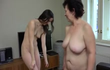 Horny lesbians toying each other's pussy