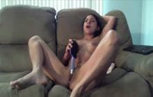 Hairbrush makes her cum