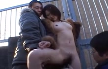 Japanese hooker toyed in public
