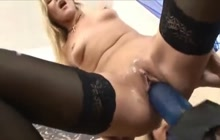 Lesbian sluts and a huge strapon